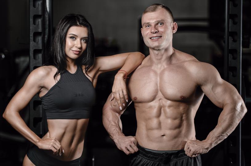 homem e mulher definidos por uso de termogênicos