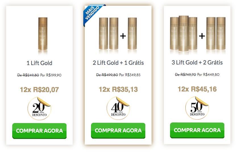 preço lift gold