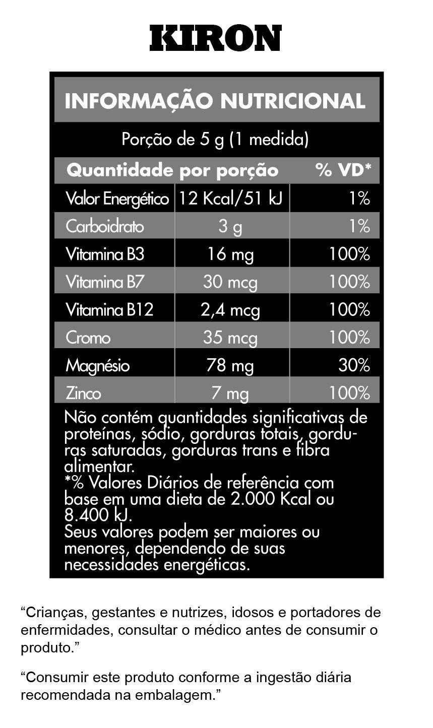 informações nutricionais kiron