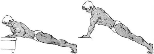 exercício peitoral definido flexão inclinada