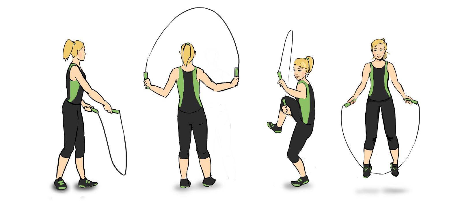 ilustração de uma pessoa pulando corda