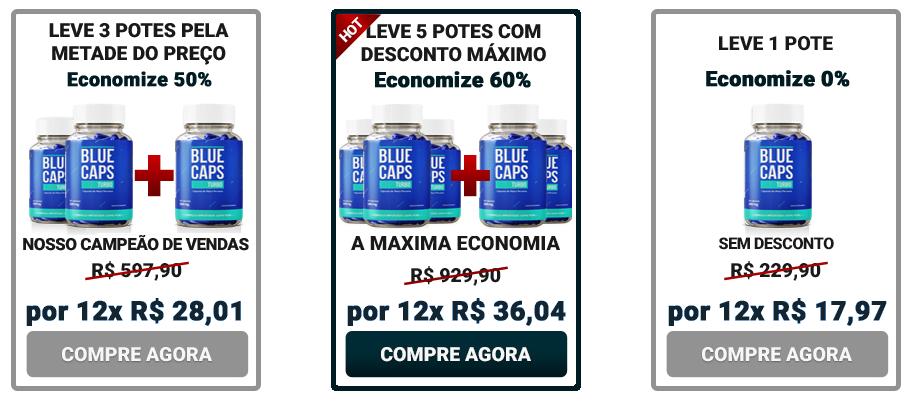 bluecaps turbo preço