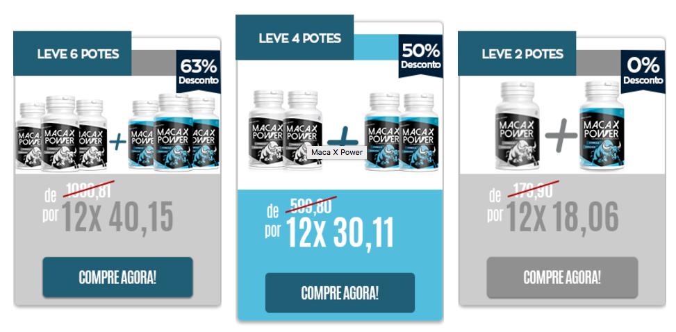 preços kits do maca x power
