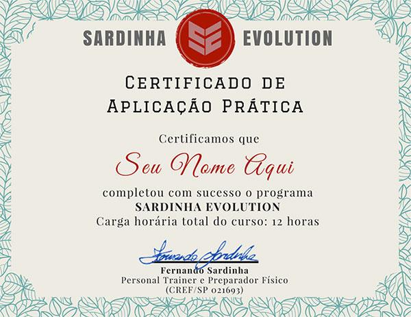certificado sardinha evolution