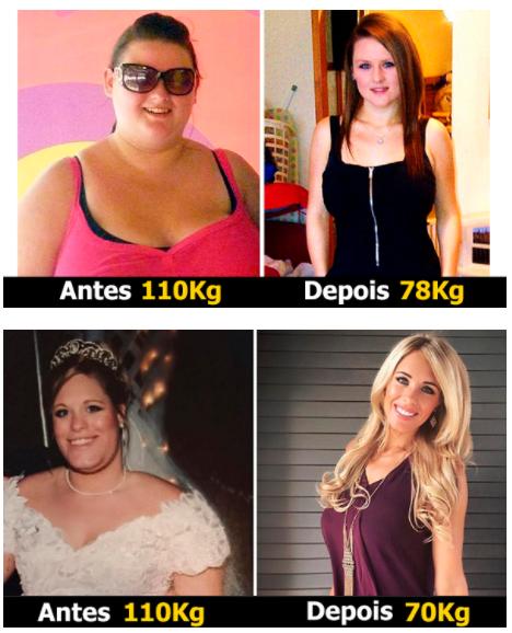 antes e depois de usar o Alfacaps