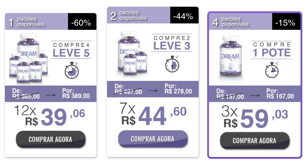 dream caps preço