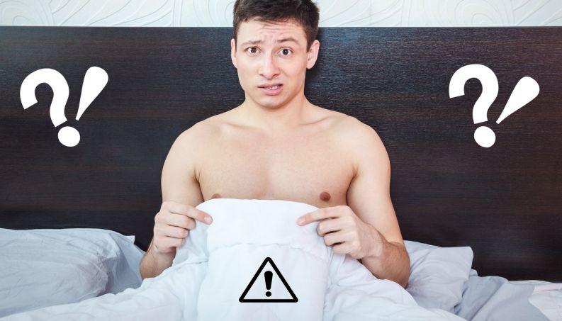 homem deitado na cama com problema de ereção