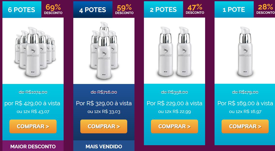 lumiclear preços
