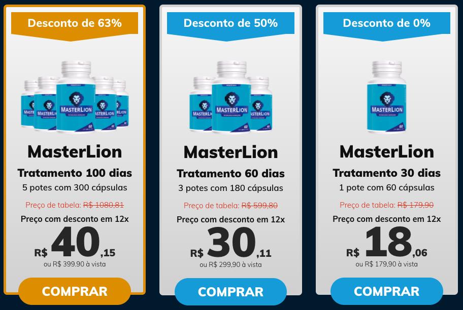 preço do master lion