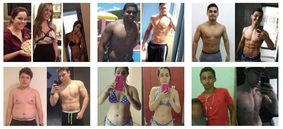 antes e depois de quem já faz dieta flexível