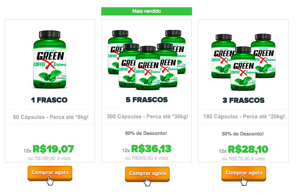 green coffee xtreme preços
