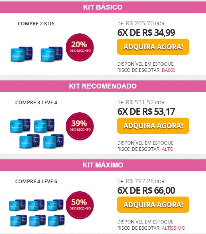 hydroface kit preços