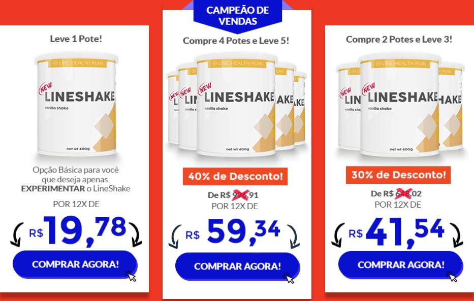 lineshake preços