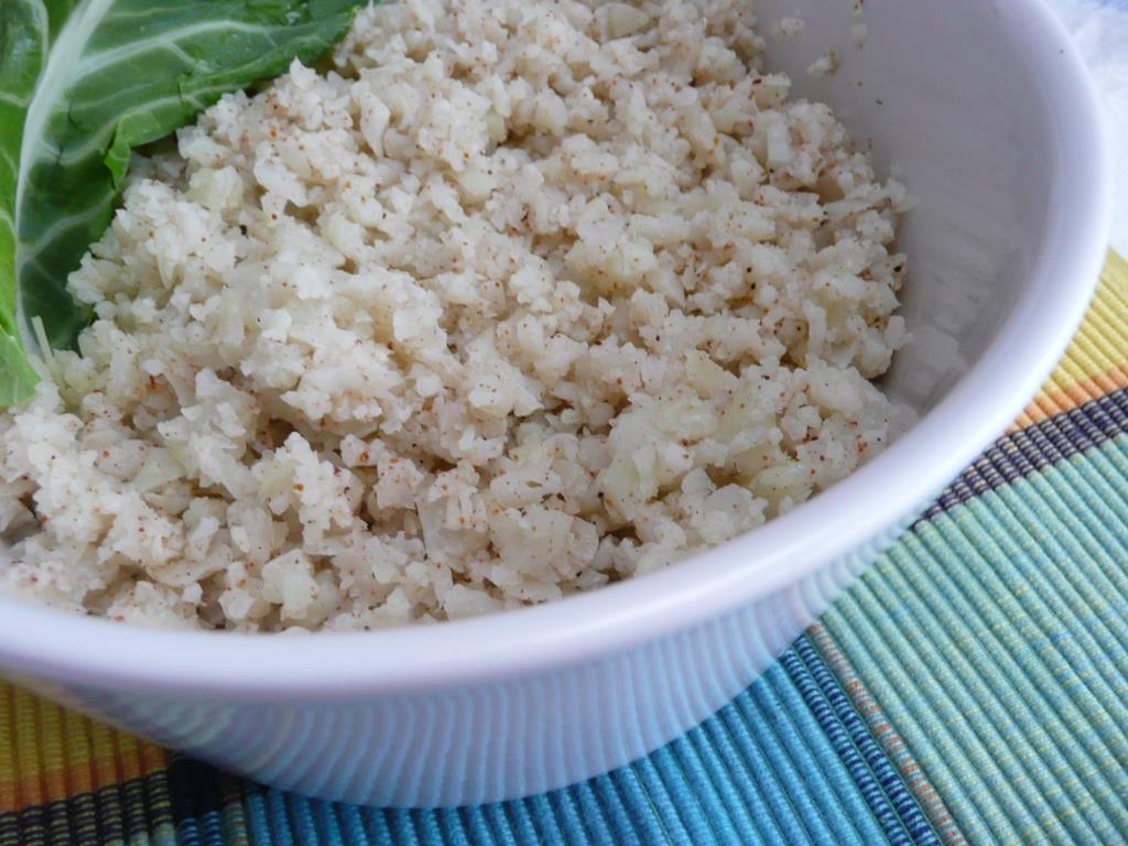 como fazer arroz couve flor