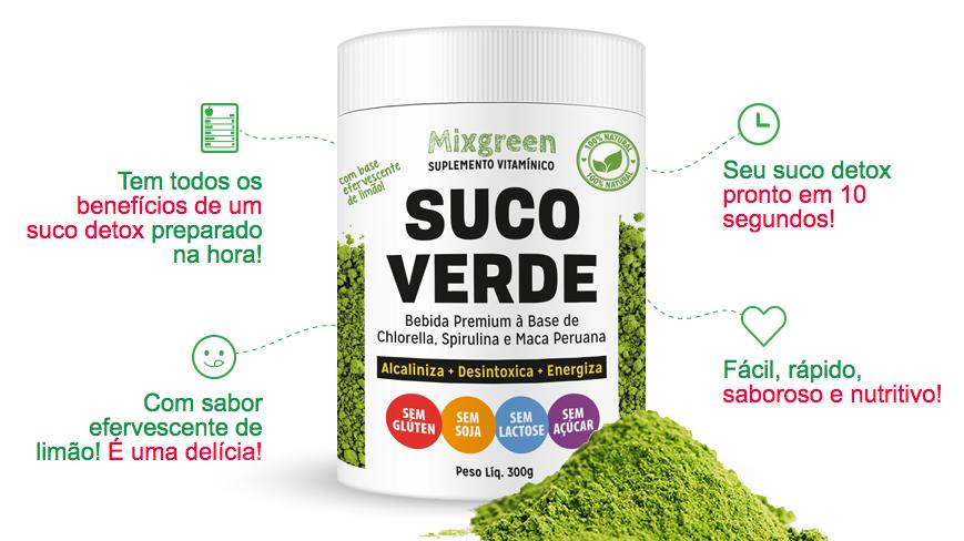 mixgreen suco detox emagrecer