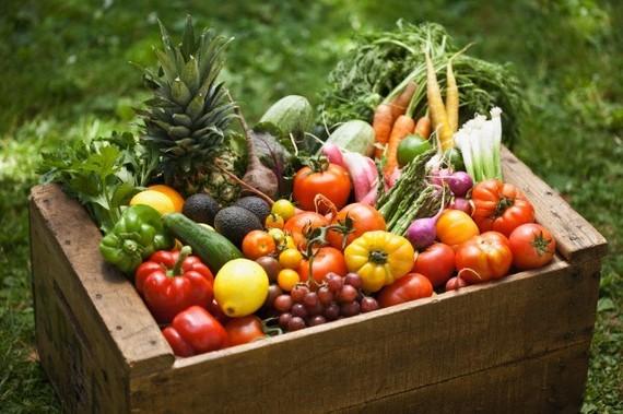 Alimentos sem glúten legumes, frutas e vegetais