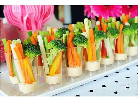 Lanches funcionais palito de legumes