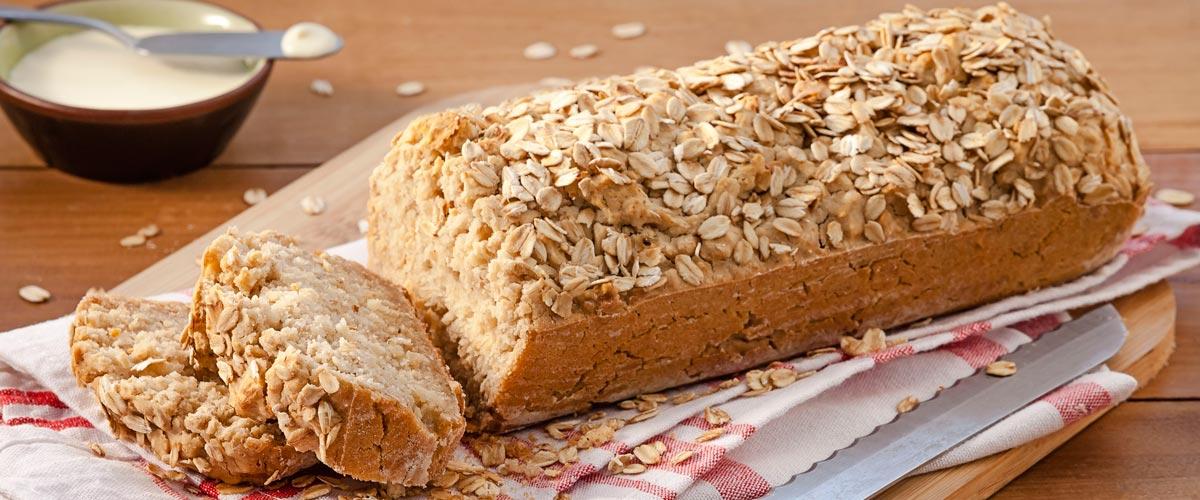 Receitas sem glúten pão de aveia