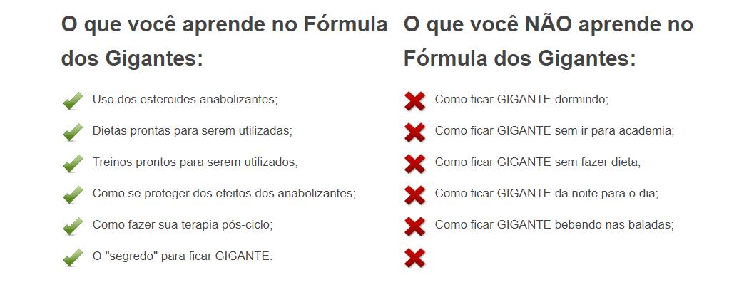 fórmula dos gigantes