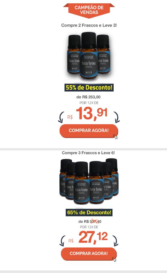 óleo de melaleuca preços