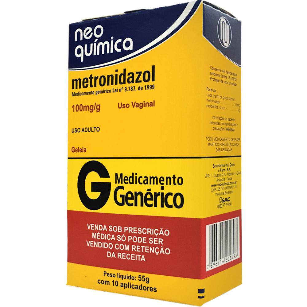metronidazol embalagem