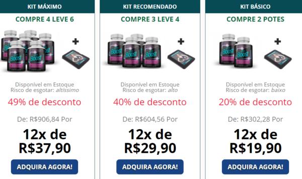 kit preços do keto boost